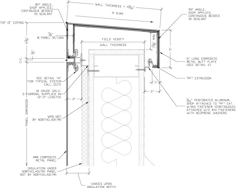 Zinc Panel Section : Metal panel walls dream team