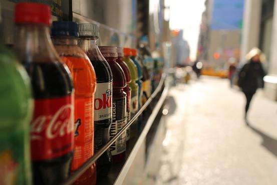 various bottles of soda