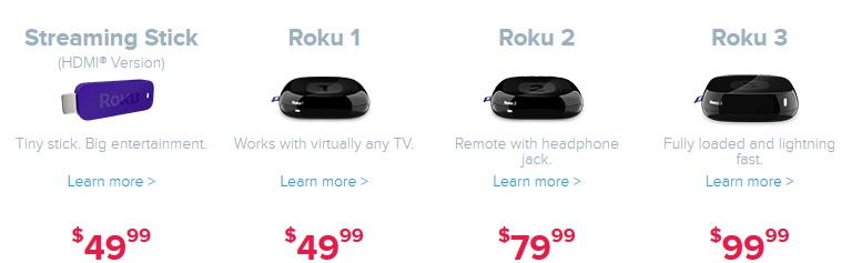 Roku Box Models