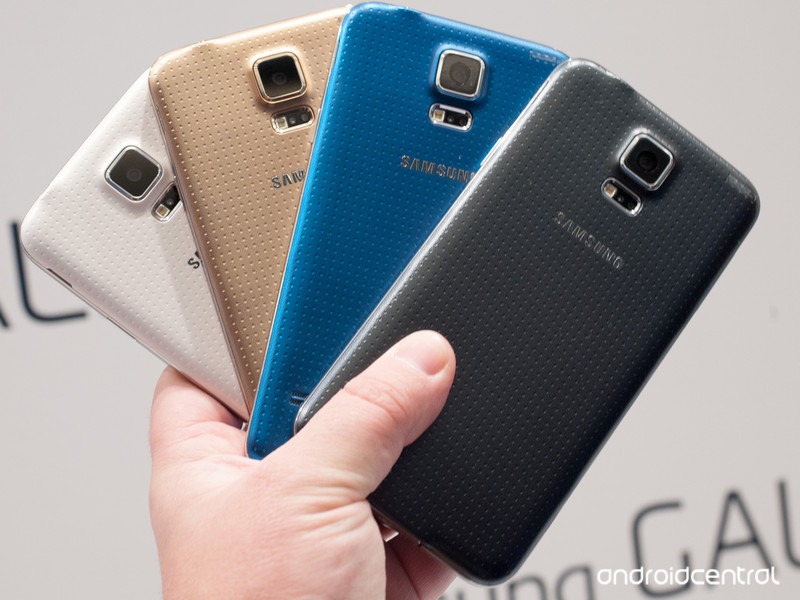 the galaxy s5 phone in colors