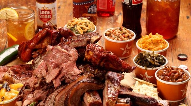 a barbecue spread