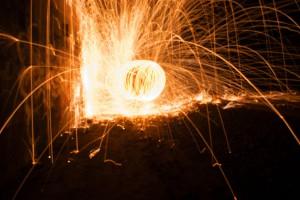 exploding lights