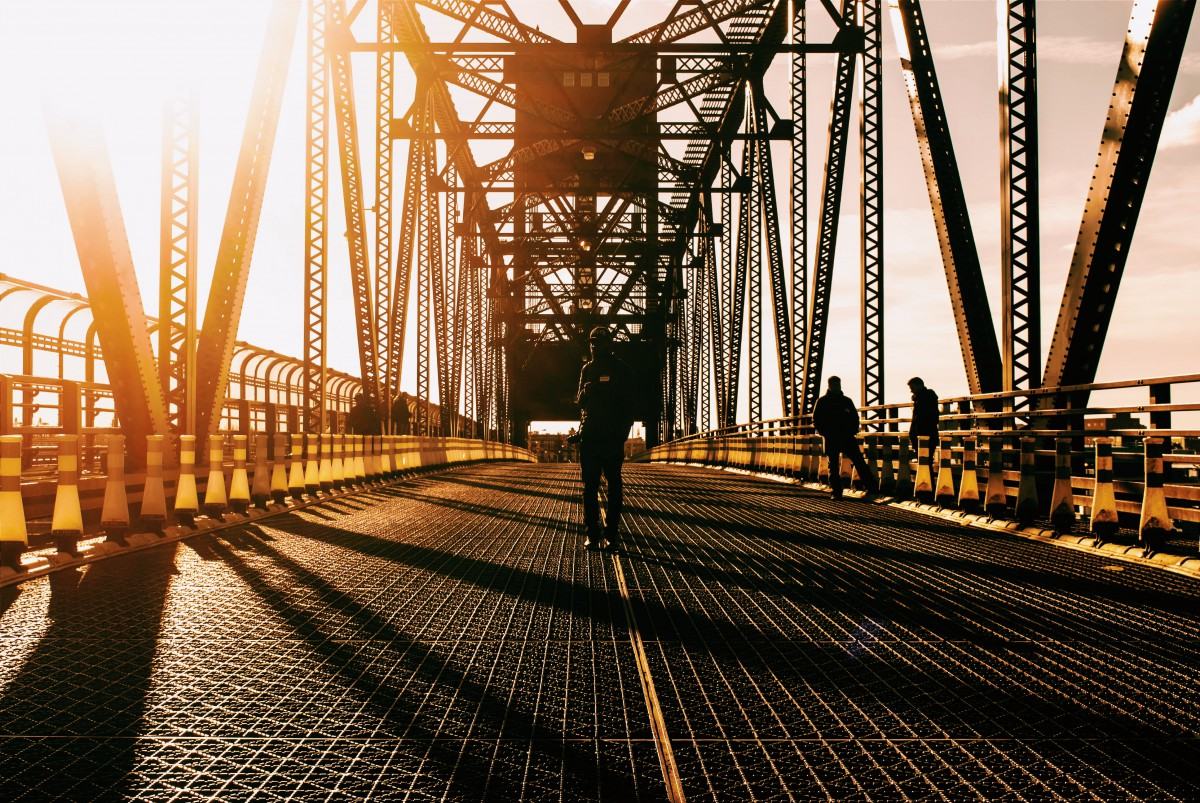 a person on a bridge