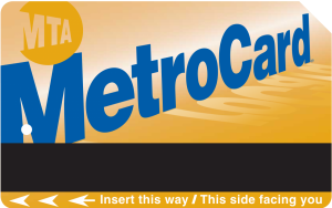 a New York City Subway MetroCard