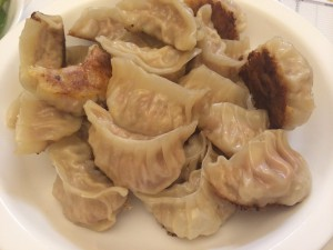 a dish of dumplings