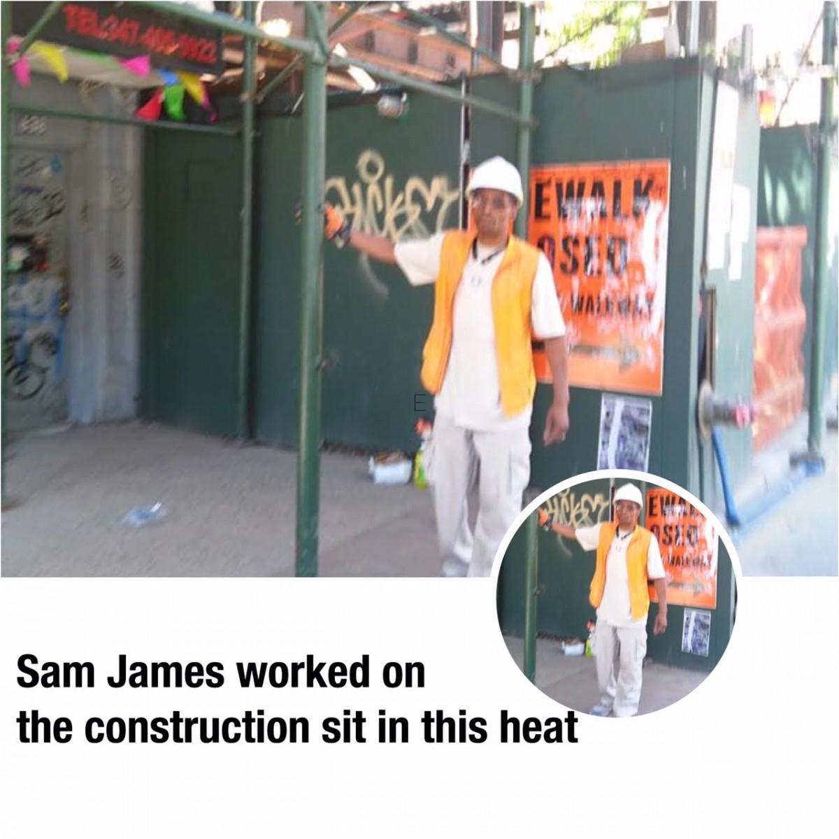 a man in an orange vest