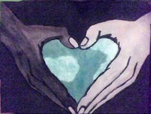 heart hands bnw