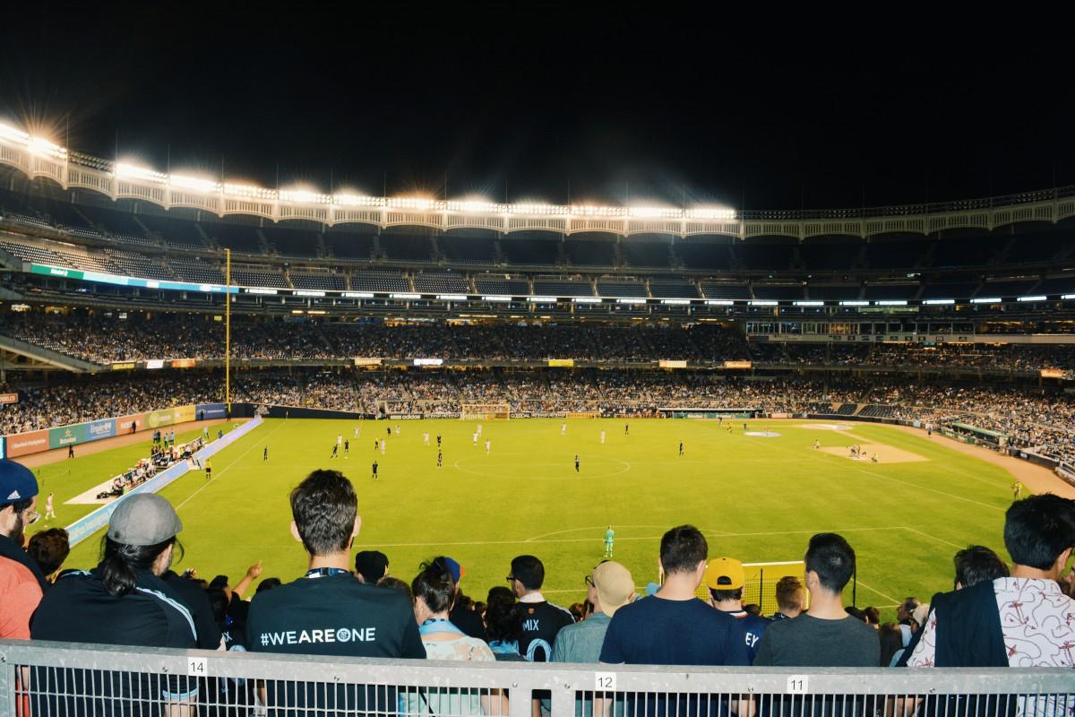 a stadium field