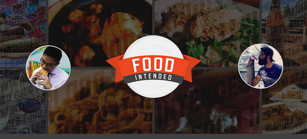 screenshot of a foodblog