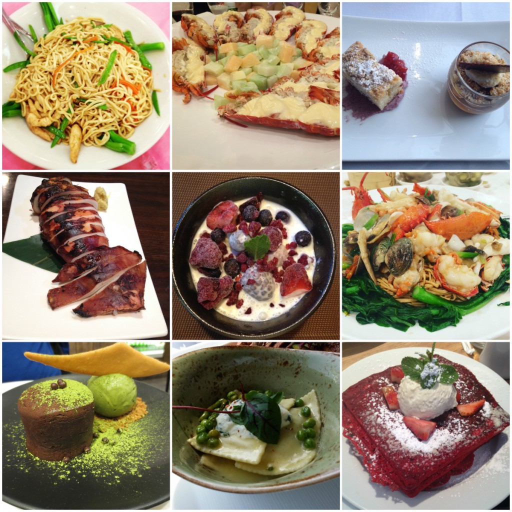 nine plated food dishes