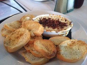 crab dip with crostini