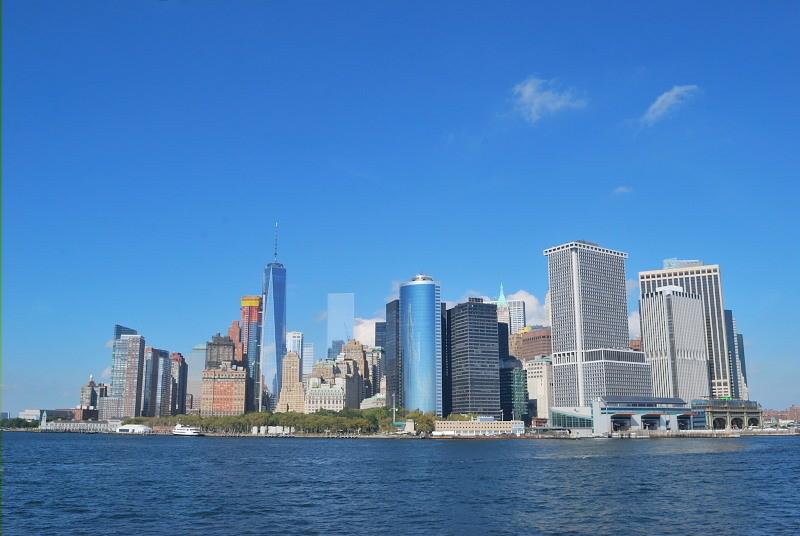 a city shore line