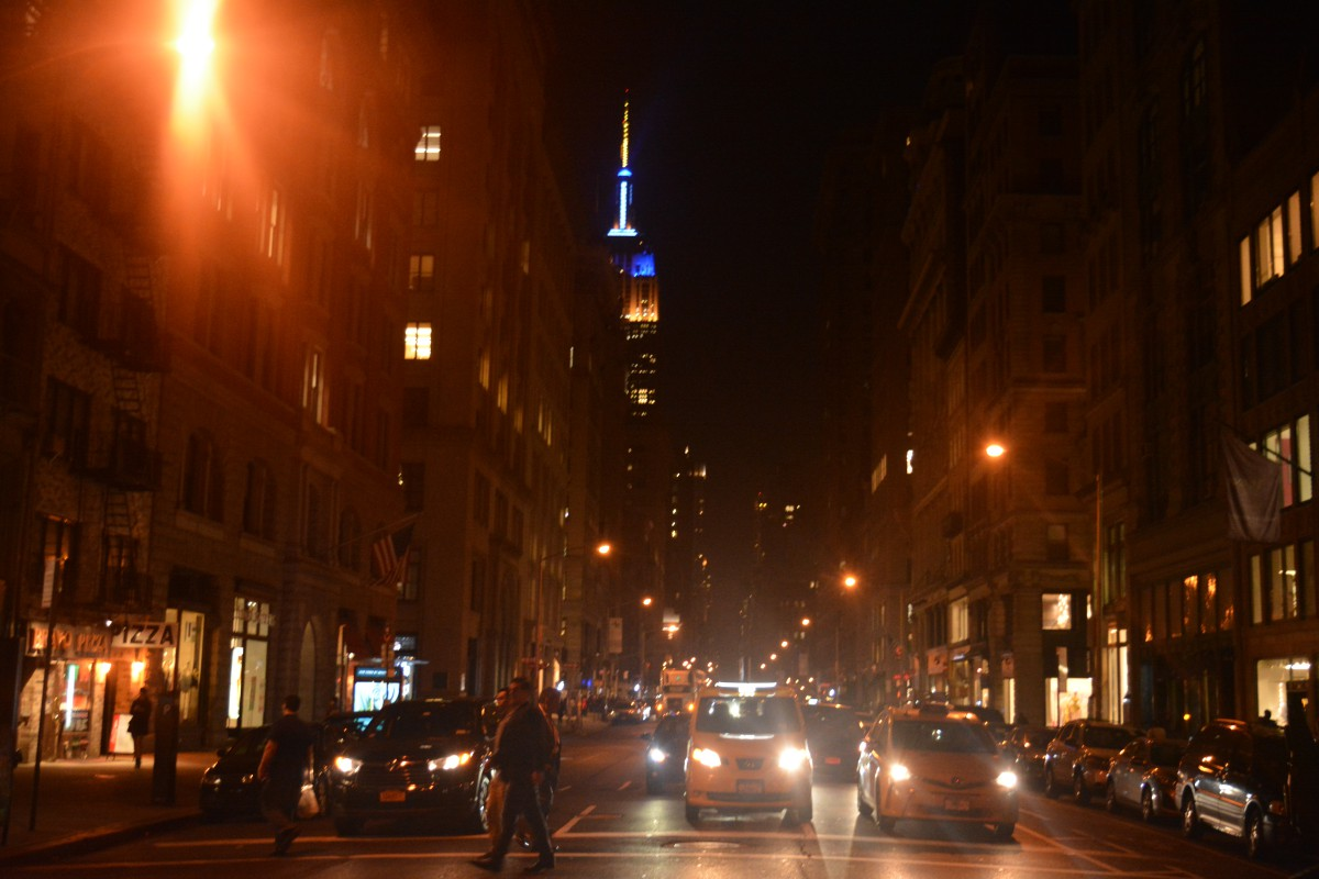 the Empire State Building, partially hidden