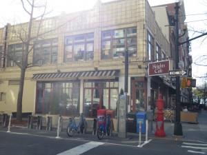 a cafe on the corner