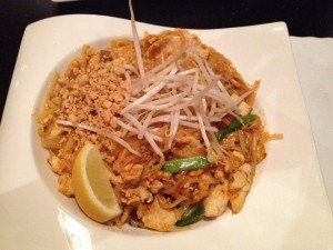 a dish of pad thai