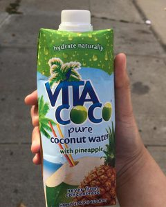 a bottle of Vita Coco coconut water