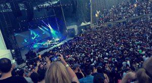 a large concert crowd