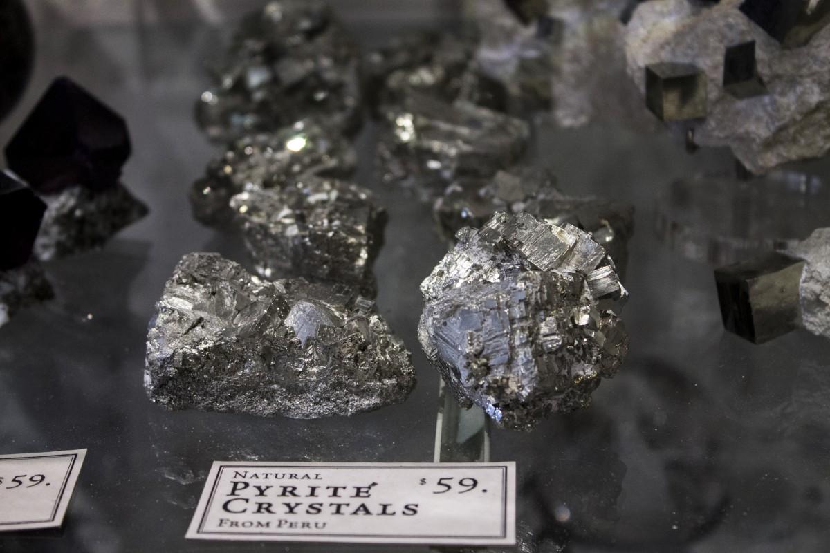 Pyrite crystals