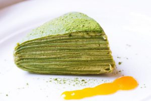 green tea layered crepe cake