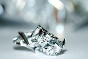 crumbled foil