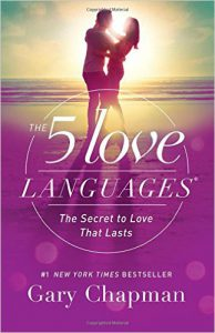 "the cover of ""The 5 Love Languages"" book by Gary Chapman"