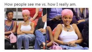 How people see someone vs how they really are (facial expressions)