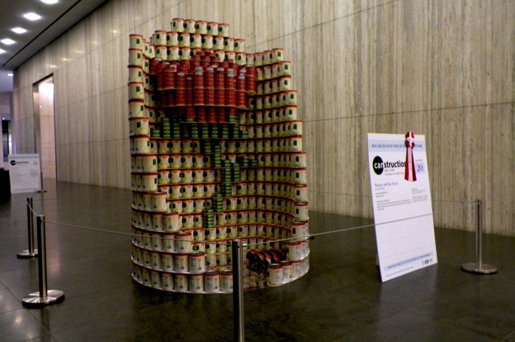 Canstruction Sculpture