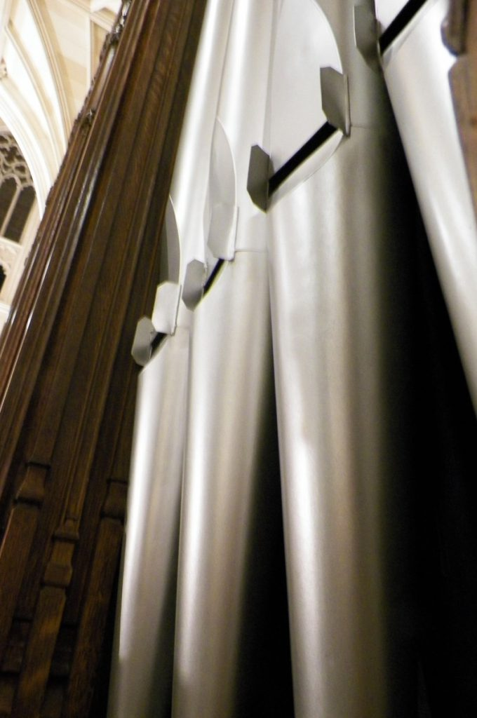 Organ pipes at saint patrick's cathedral