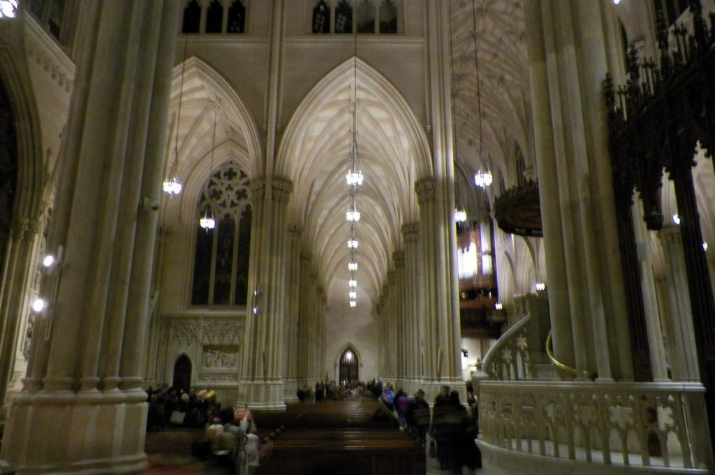 view of the nave in saint patrick's cathedral