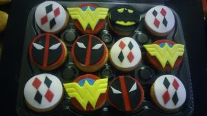 superhero themed cupcakes