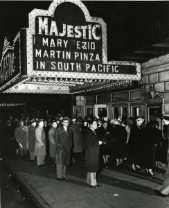a historical photo of the majestic theatre