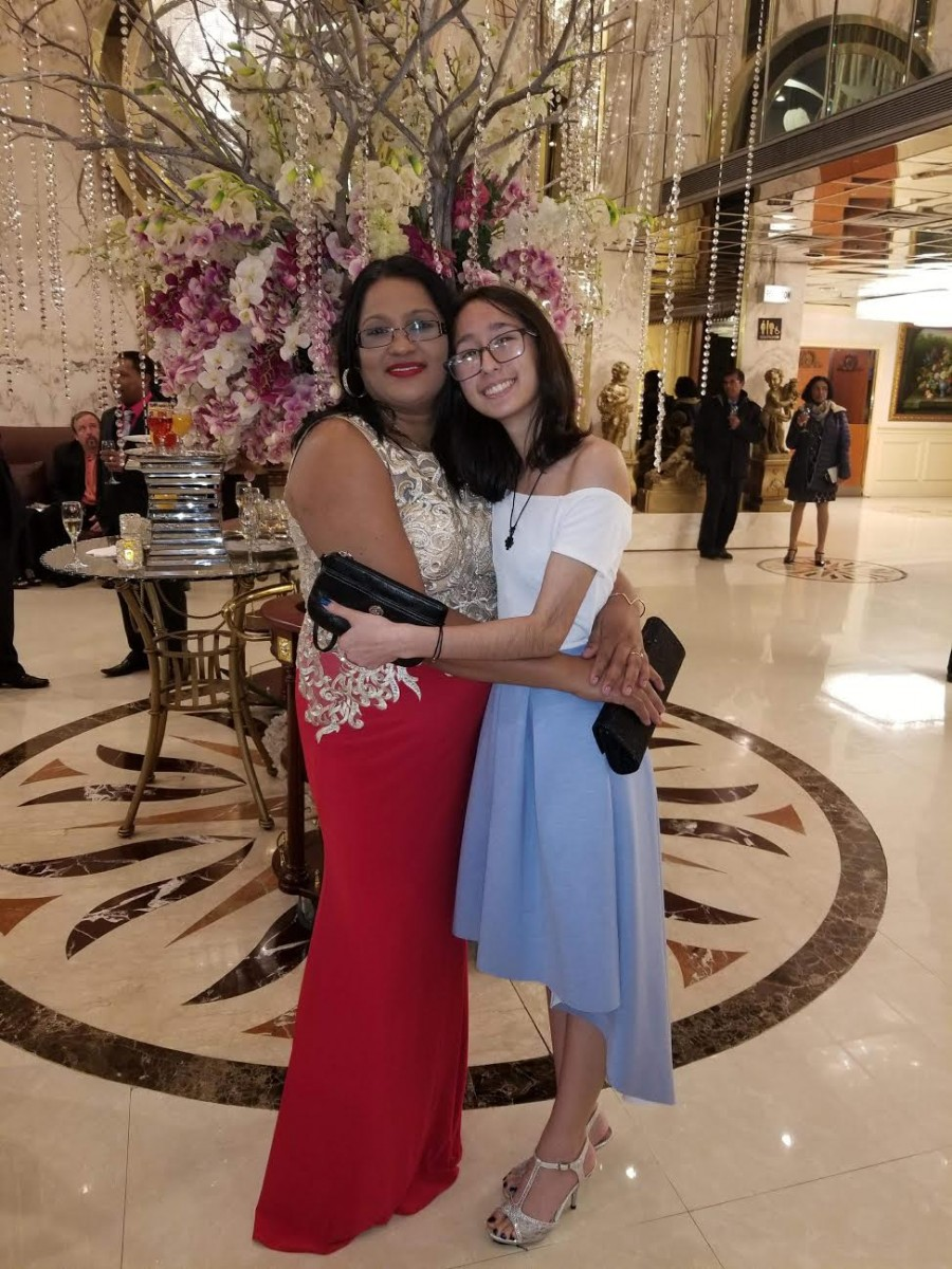 blogger Genny with chachi ( aunt )
