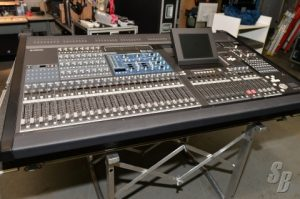 the Yamaha PM5D mixing console on a stand