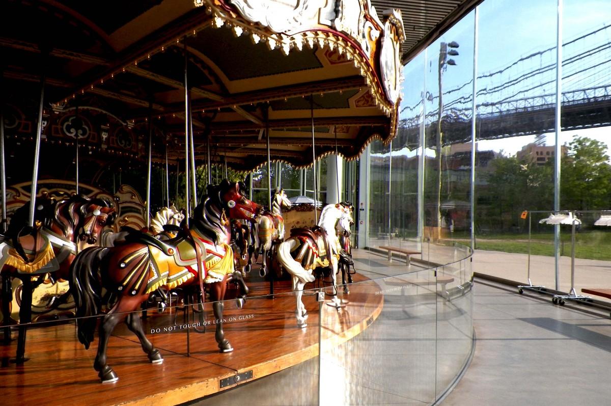 the horses galloping towards dumbo