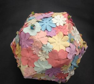 Kimberly's Flower Icosahedron Spring 2018