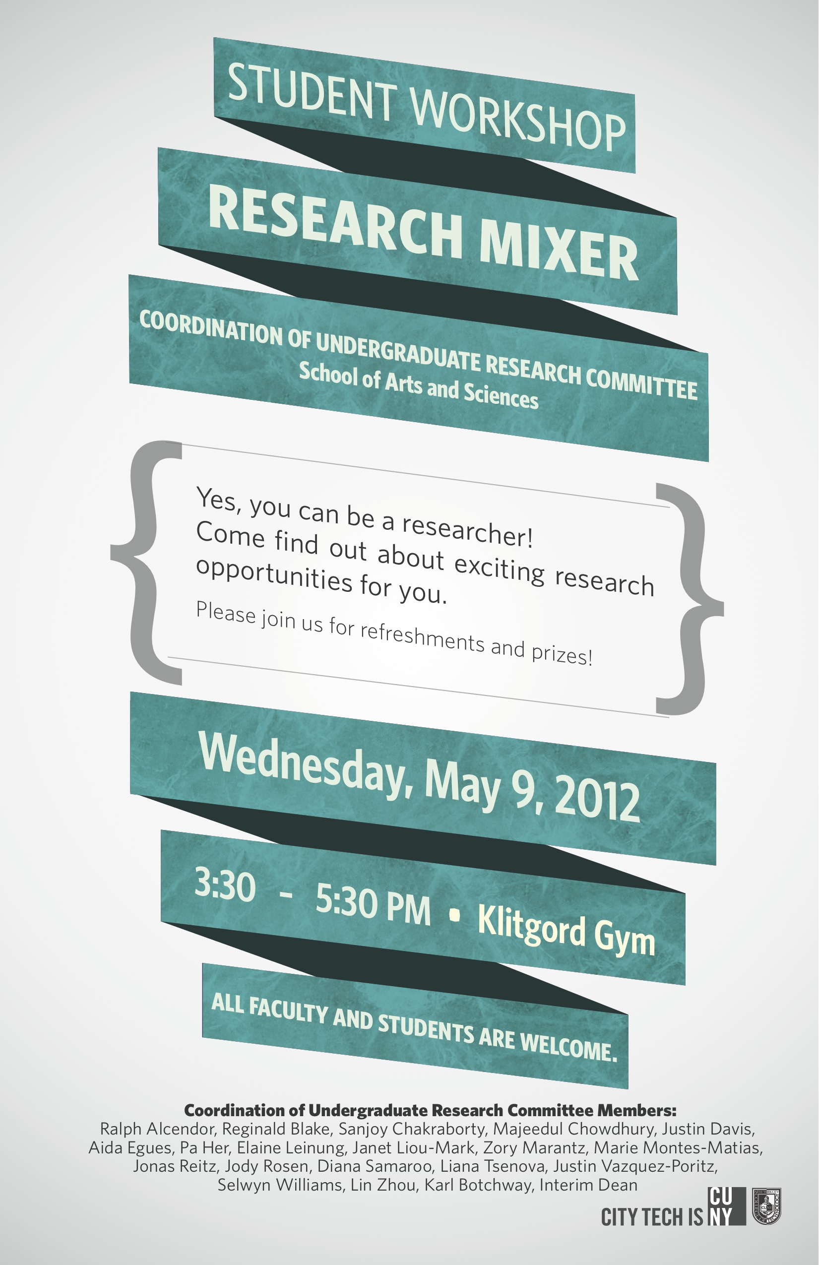 Image: Research Mixer Spring 2012 flyer