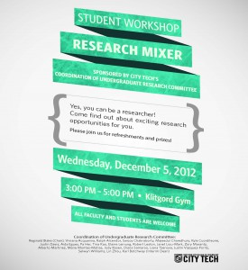 Image: Research Mixer Fall 2012 flyer