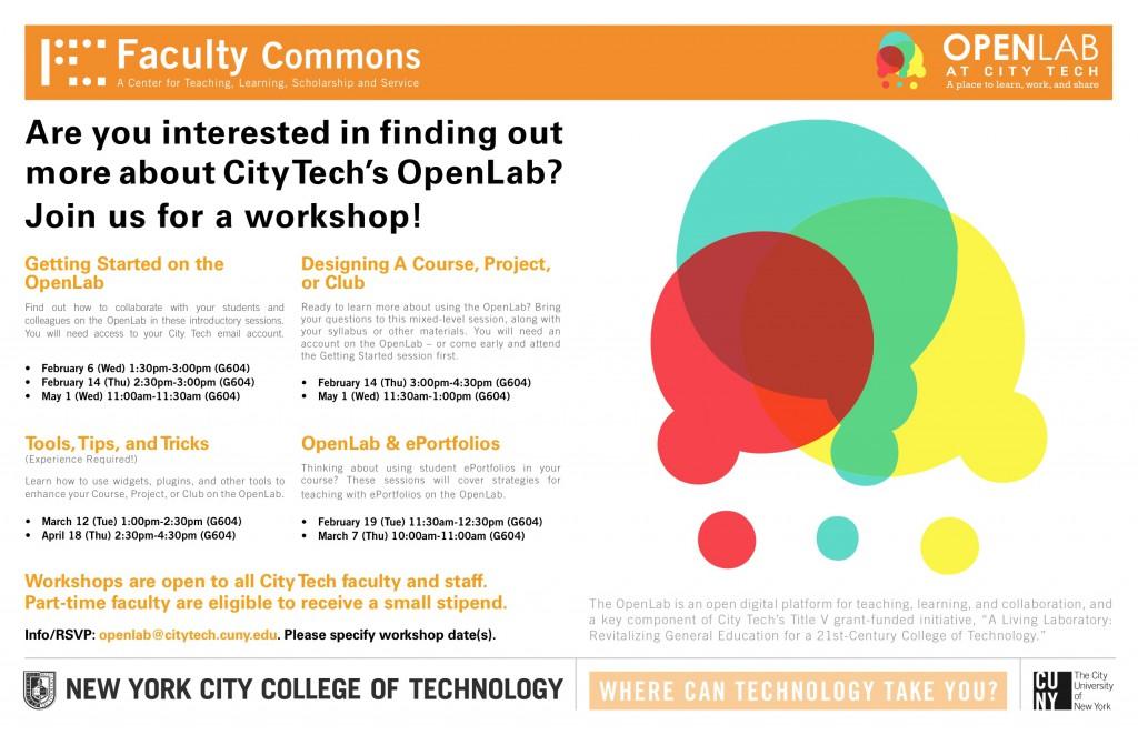 Image: OpenLab workshop flyer