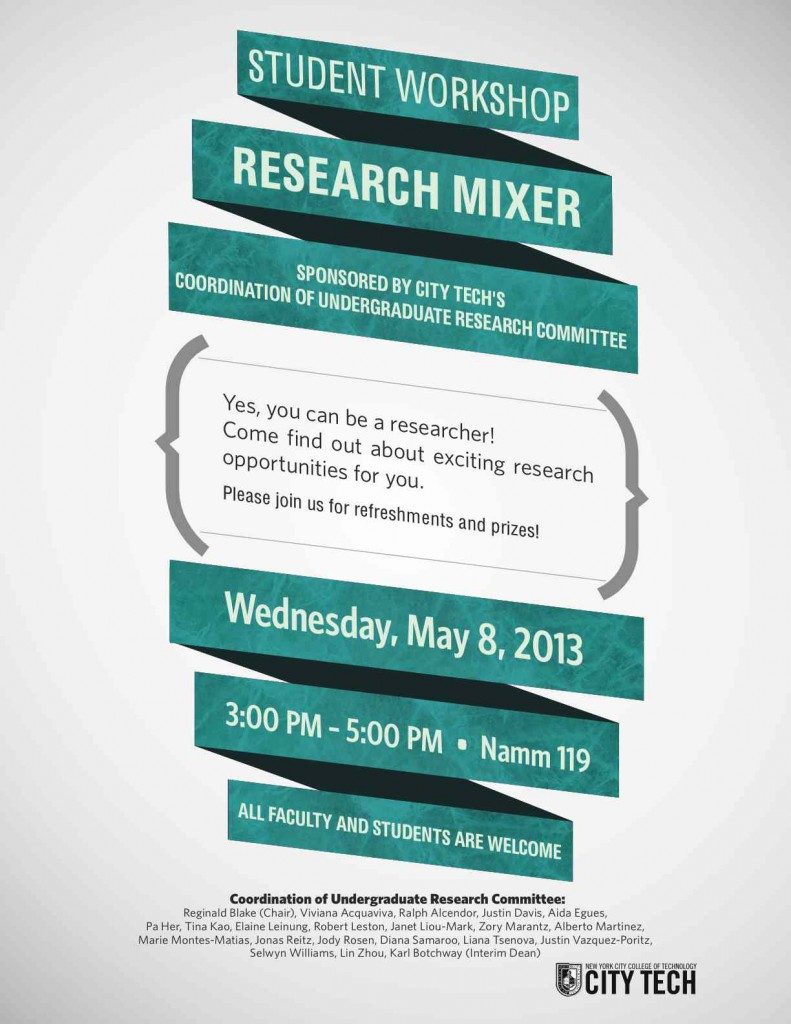 Image: Research Mixer Spring 2013 flyer