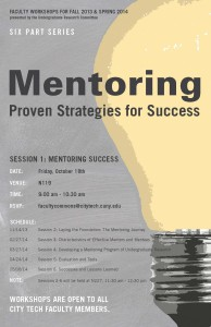Image: Mentoring October 18, 2013 flyer