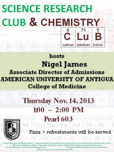 Image: Chem club event flyer
