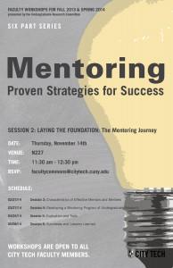 Image: Mentoring November 14, 2013 flyer