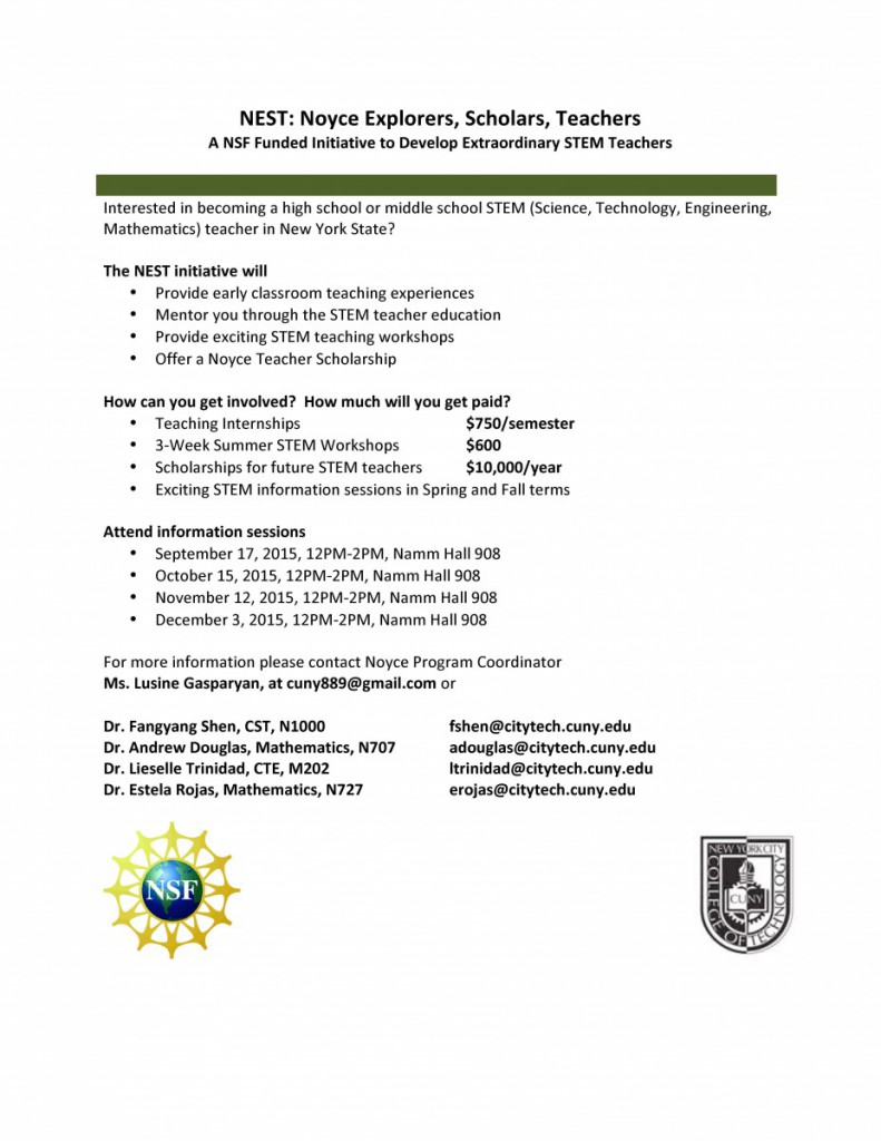Image: NSF Noyce Flyer Fall 2015