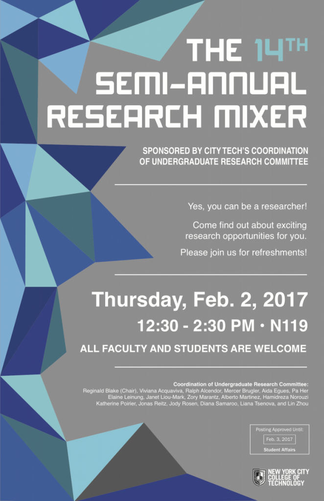 Image: The 14th Semi-Annual Research Mixer Flyer