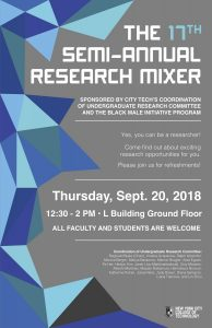 poster for Research Mixer