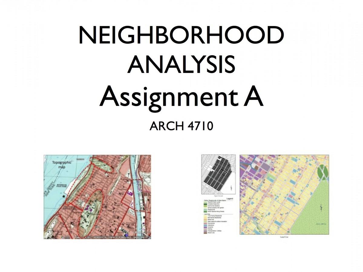 Assignment A Neighborhood Anaylsis