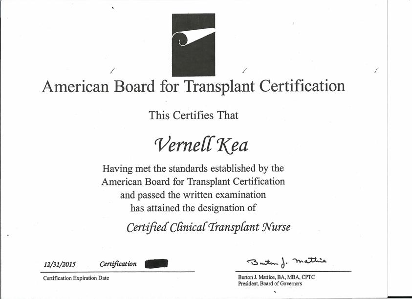 Certificatescertification Vernell Keas Eportfolio