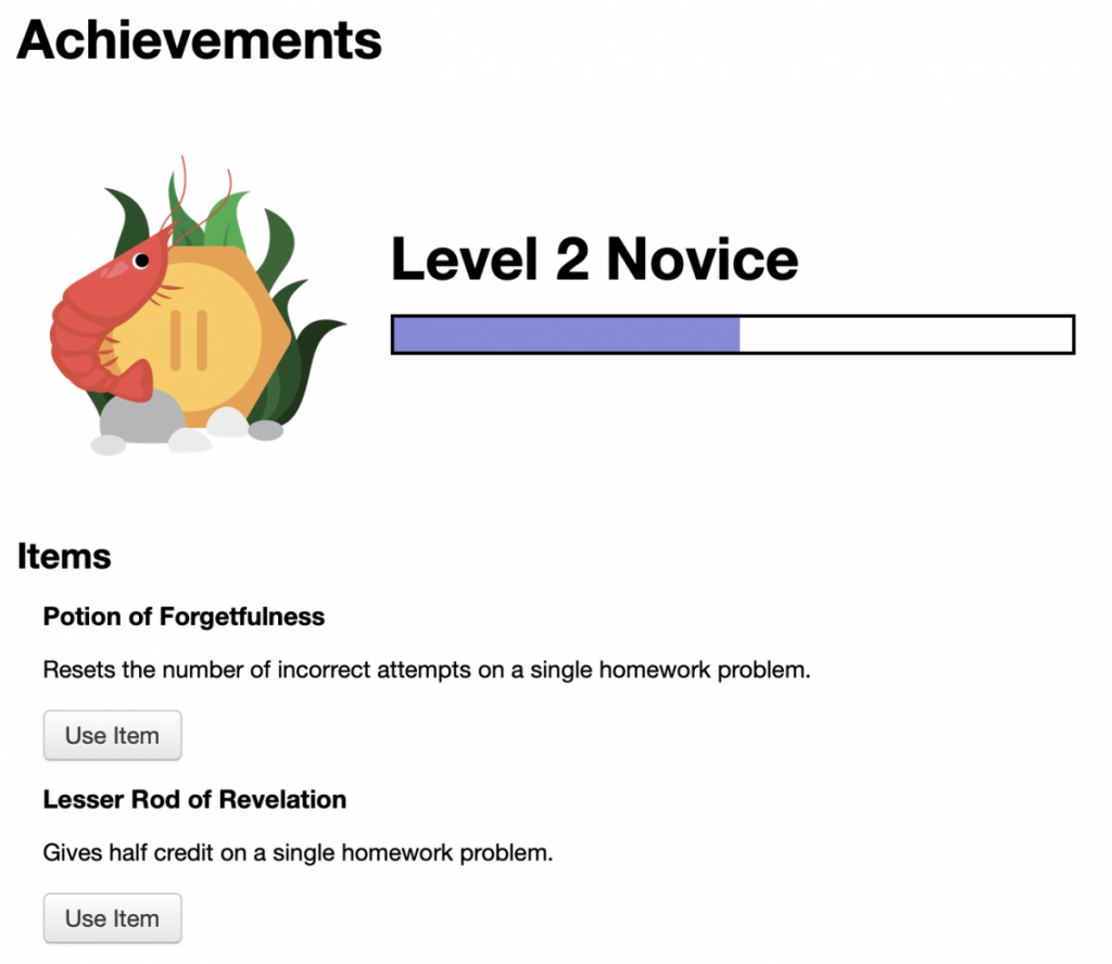 example student achievement view