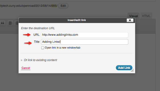 add URL screenshot