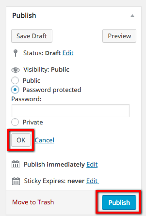 Changing Privacy Settings Screen Shot